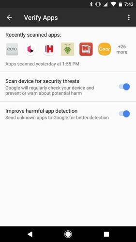 Android Oreo Google Play Protect